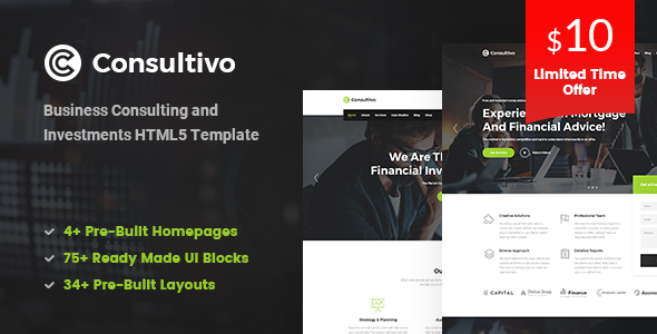 Consultivo – Business Consulting and Investments HTML5 Template            TFx Camron Chaz