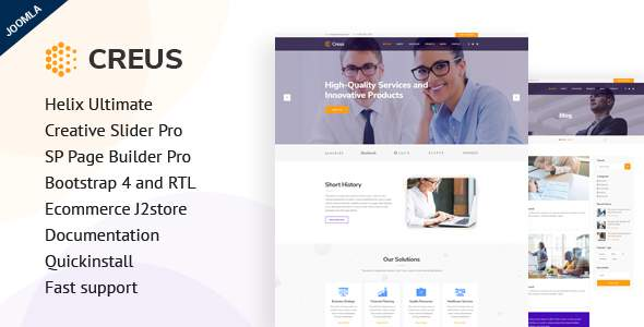 Creus – Consulting, Finance, Business Joomla Template            TFx Antinanco Bertie