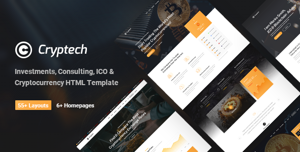 Cryptech - Responsive Bitcoin, Cryptocurrency and Investments HTML Template            TFx Tarou Johnathon