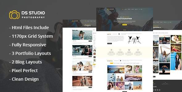 DS Studio - Photography Html Template for Photographers            TFx Rhett Jett