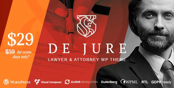 De Jure - Attorney and Lawyer WP Theme            TFx Sullivan Zack