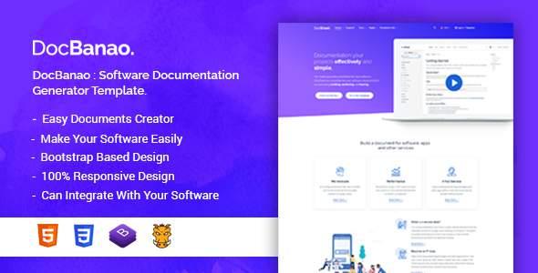 DocBanao - Software Documentation Generator HTML Template            TFx Randolf Blythe