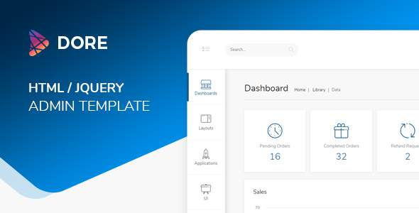 Dore - JQuery Bootstrap 4 Admin Dashboard            TFx Chase Konnor