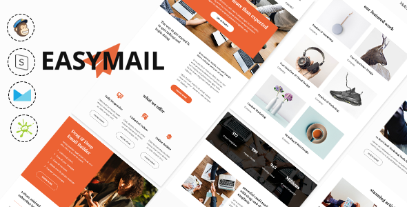 Easymail - Modern and Responsive Business Email Newsletter + Online Builder + MailChimp Ready            TFx Myron Alpha