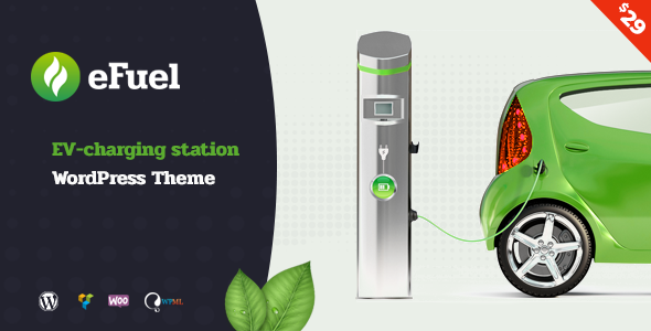 Efuel - Electric Vehicle Charging Station WordPress Theme            TFx Camden Ridley