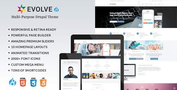 Evolve - Responsive Multi-Purpose Drupal 8 Theme            TFx Yoshirou Mahmud