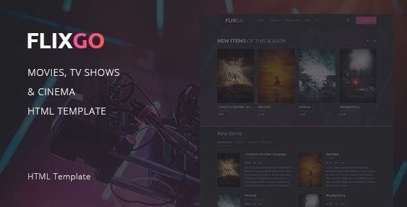 FlixGo – Online Movies, TV Shows & Cinema HTML Template            TFx Aloysius Naoki
