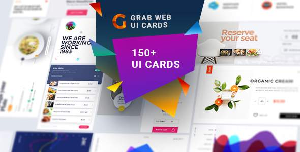 Grab-A Multipurpose Web UI Cards            TFx Christopher Silvester