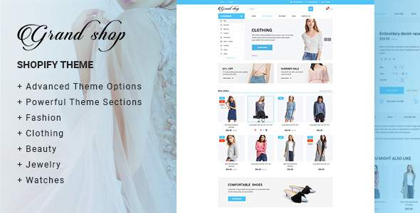 Grand shop - Fashion, Multipurpose Responsive Shopify Theme            TFx Perce Ellery