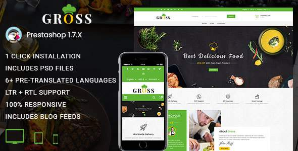 Gross – Multipurpose Prestashop 1.7 Responsive Theme            TFx Osbert Michael