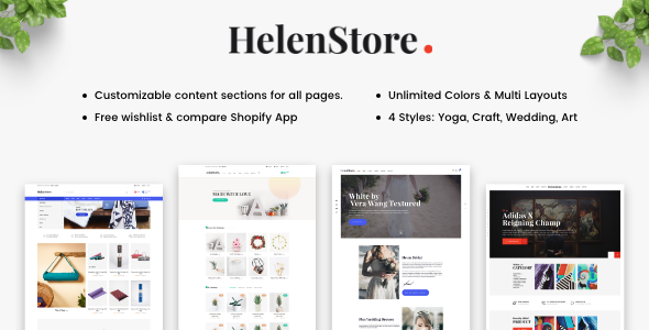 Helen - Responsive Shopify Sections Theme            TFx Eko Albert