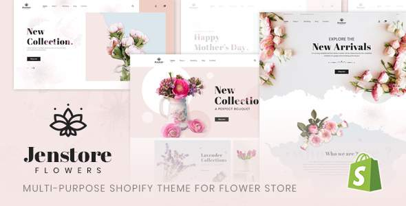JenStore | Multi-Purpose Shopify Theme for Flower Store            TFx Louis Alban