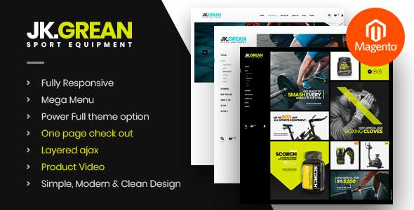 JkGrean - Fitness, Gym and Sport Magento 2 theme            TFx Manley Dre