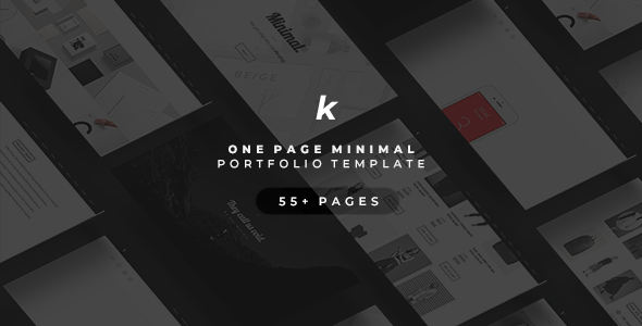 KHONG - Minimal Multi-Purpose Portfolio Template            TFx Shaun Ash