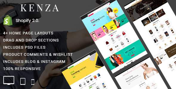 Kenza - Sectioned Multipurpose Shopify Theme            TFx Martial Buster