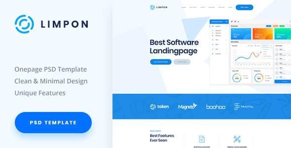Limpon - Software Landing PSD Template            TFx Arif Denzil