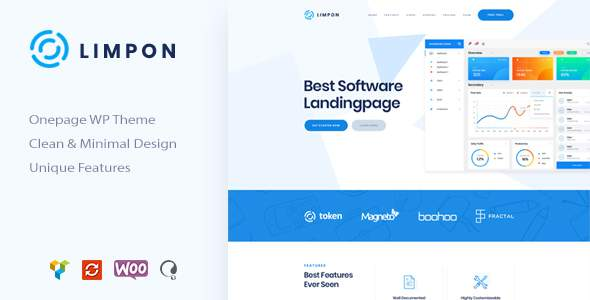 Limpon - Software Landing Page WordPress Theme            TFx Wisdom Rain