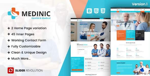 Medinic - Medical Multi-purpose Responsive HTML5 Template            TFx Angel Kade