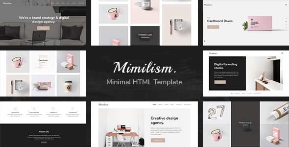 Mimilism — Clean & Minimal Portfolio HTML Template            TFx Iman Daniel