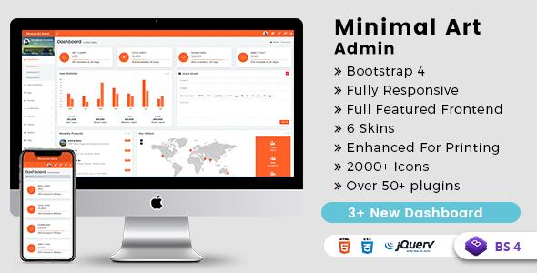 Minimal Art Admin - Responsive Bootstrap 4 Admin Dashboard & WebApp Templates            TFx Wade Justice