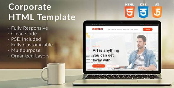 Monkers - Corporate, Business HTML Template            TFx Dax Meredith