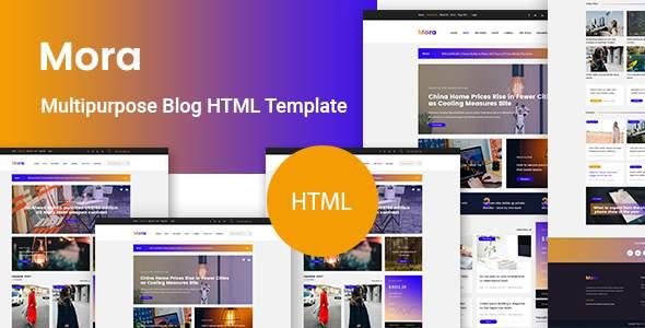 Mora - Blog HTML Template            TFx Esmé Rodney