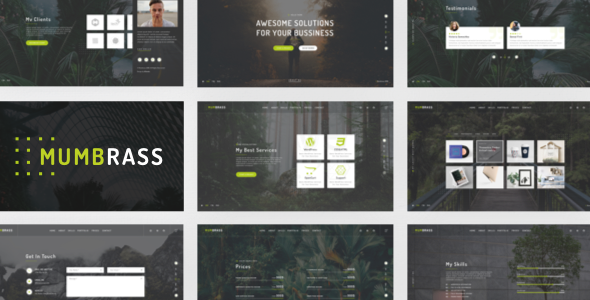 Mumbrass - Full Screen Personal Portfolio Sketch Template            TFx Lucky Kenrick