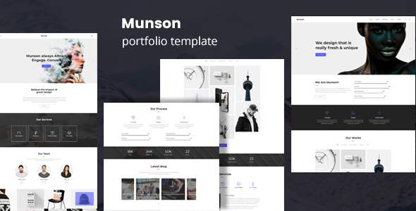 Munson - Minimal Portfolio Template            TFx Bernard Orval