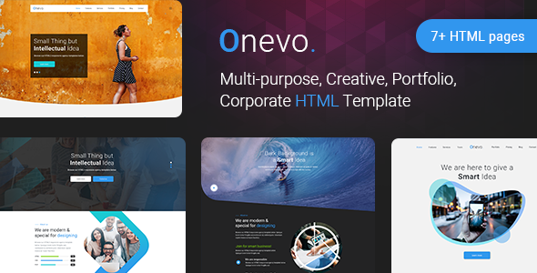 Onevo – One Page Parallax Template            TFx Makoto Malcolm