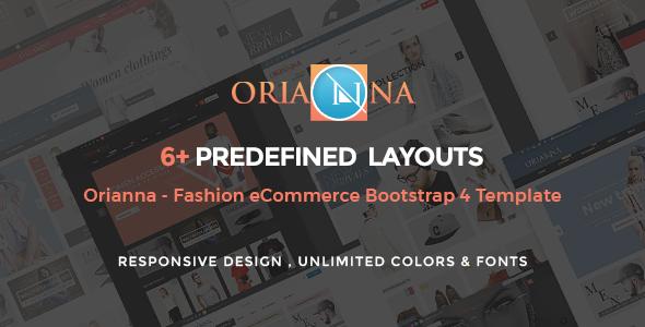 Orianna - Fashion E-commerce Bootstrap 4 Template            TFx Made Theodore