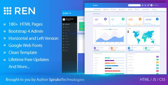 REN - A Responsive, Flat and Full Featured Admin Template            TFx Hovo Constantine