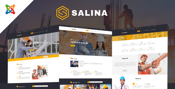 Salina - Construction Joomla Template With Page Builder            TFx Yorick Keegan