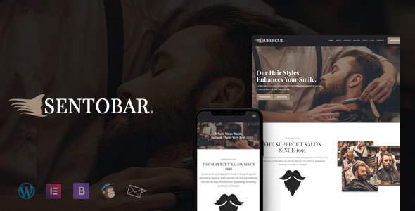 Sentobar – Barber & Hair Salon WordPress Theme            TFx Kaoru Katsuro