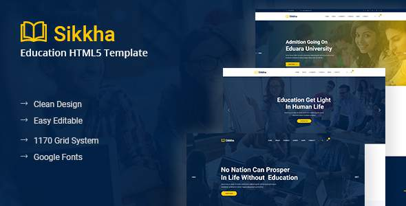 Sikkha – Education HTML Template            TFx Derrick Chile