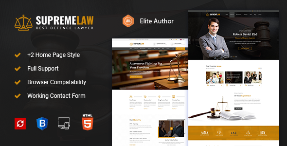 Supremelaw - Lawyer & Attorney HTML Template            TFx Riku Troy