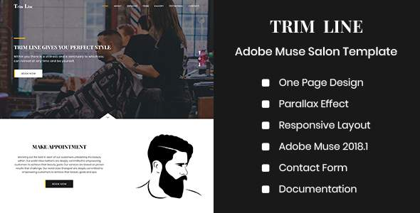 TRIM LINE - Adobe Muse Salon Template            TFx Kory Morley