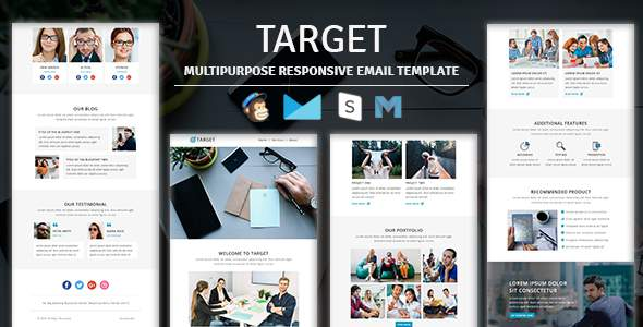Target – Multipurpose Responsive Email Template With Stampready Builder Access            TFx Ladislas Bagrat