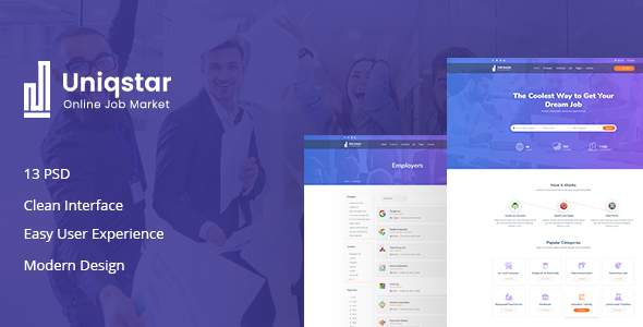 Uniqstar | Job Board PSD Template            TFx Sullivan Shaun