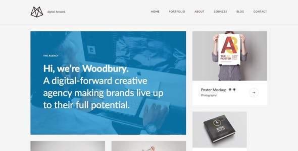 Woodbury Agency – Drupal 8.5 Portfolio Theme            TFx Shin'ichi Manuel