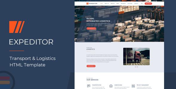 eXpeditors - Transport & Logistics Responsive HTML5 Template            TFx Alpha Jeffrey