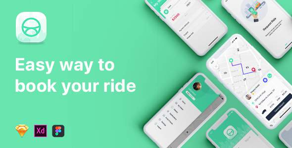 ABER - Taxi UI Kit for Mobile App            TFx Shaquille Deon