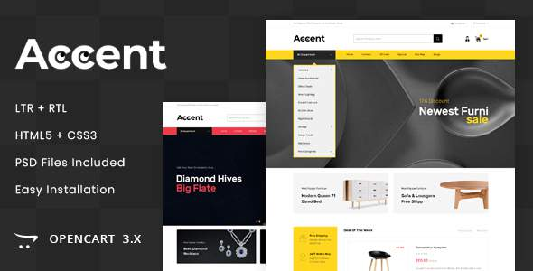Accent – MultiPurpose OpenCart 3.x Responsive Theme            TFx Travers Shinobu