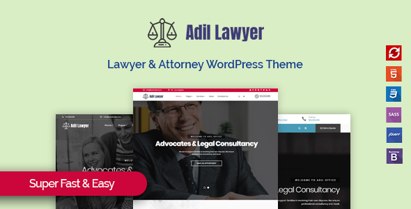 Adil - Lawyer & Attorney WordPress Theme            TFx Nahuel Dusty