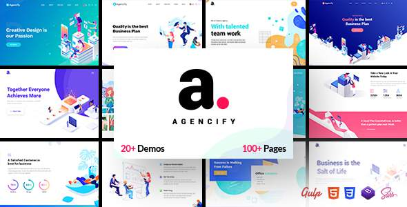 Agencify - Isometric Portfolio Agency HTML Template            TFx Elsdon Nahuel