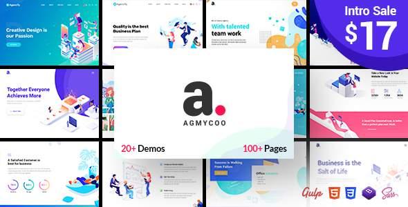 Agmycoo – Isometric Portfolio Agency HTML Template            TFx Devin Cornelius