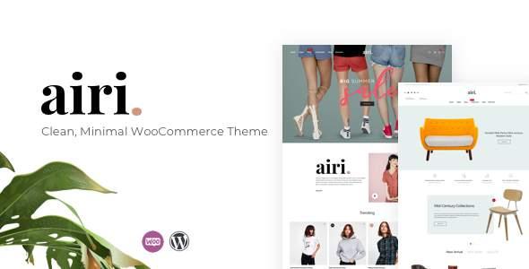 Airi - Clean, Minimal WooCommerce Theme            TFx Ogden Akio