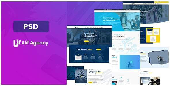 Alif Agency PSD Template            TFx Avery Balam