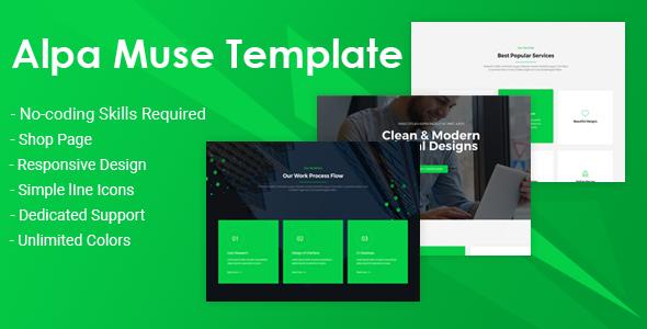 Alpa - Responsive MultiPurpose Muse Template   Business            TFx Dustin Rowan