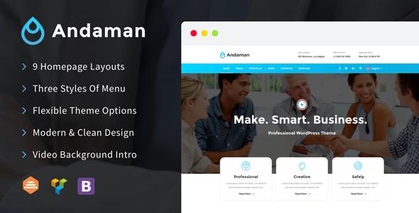 Andaman - Creative & Business WordPress Theme            TFx Aydan Karen