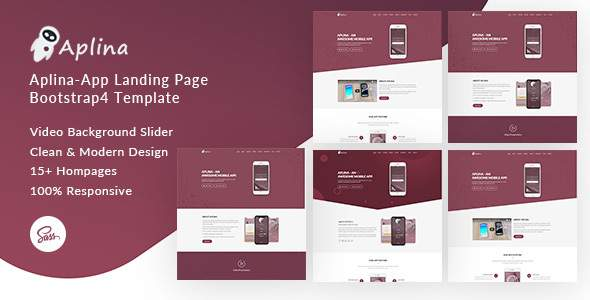 Aplina - App Landing Page Bootstrap 4 Template            TFx Ian Ovid